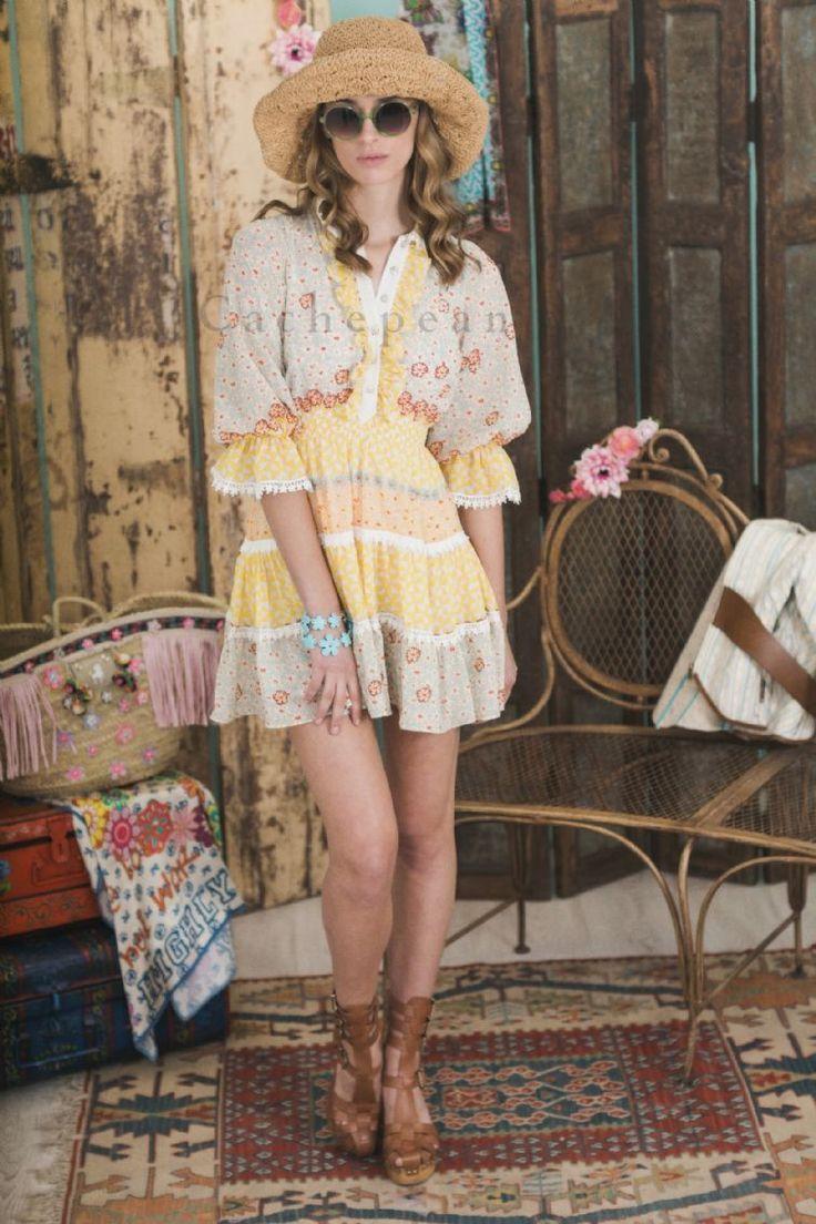 Vestido manga larga Color tipo - H. Preppy