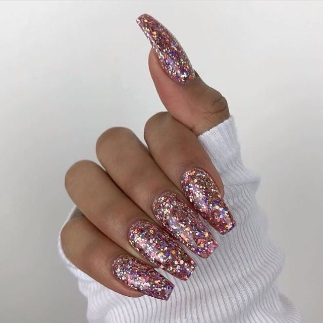 Metallic Gold Nail Polish With Glitter