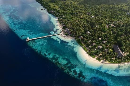 Wakatobi Dive Resort, a bird's eye view.= Indonesia