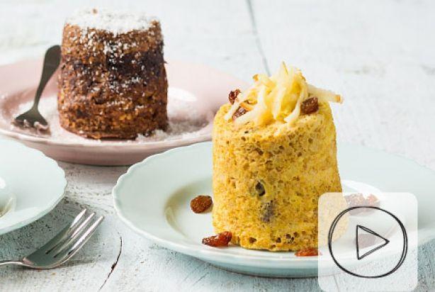 Zin in een simpel, supersnel en heerlijk ontbijtje? Deze gezonde mug cake met appel is dan zeker een aanrader. Onwijs makkelijk en al binnen 5 minuten kun je genieten van dit heerlijke ontbijtje. Je doet alle ingrediënten in een beker, zet het even in de magnetron en klaar. Simpeler kan niet toch? Super als snel ontbijtje, maar ook heerlijk als dessert of tussendoortje. Garneer met wat geraspte appel en rozijnen en het genieten kan beginnen.