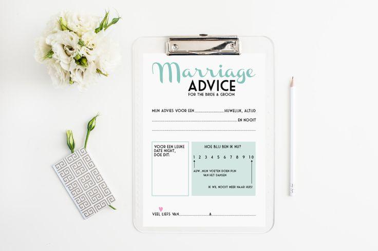 Grappige vragen kaartjes als bruiloft gastenboek! Super origineel en persoonlijk (printable)