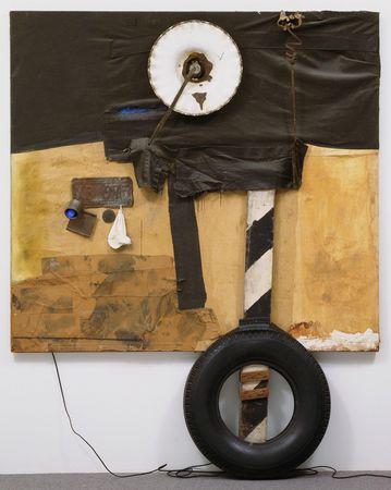 Robert Rauschenberg, First Landing Jump 1961. #art #abstract #expressionist #robert #rauschenberg