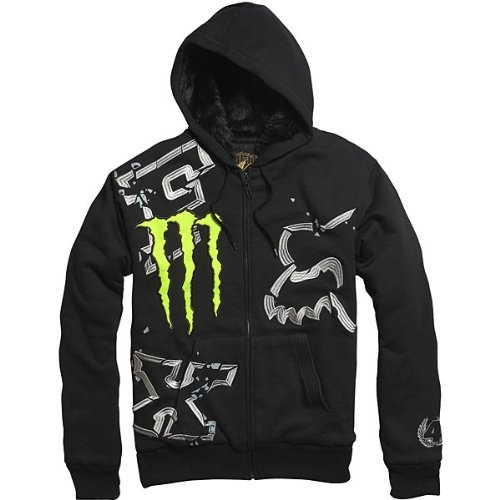 Fox Racing Monster Ricky Carmichael Replica Downfall Sasquatch Men's Hoody Zip Sportswear Sweatshirt/Sweater - Black $63.99 - $69.95