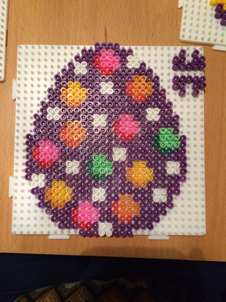 Easter egg hama perler beads by Susse Cevin