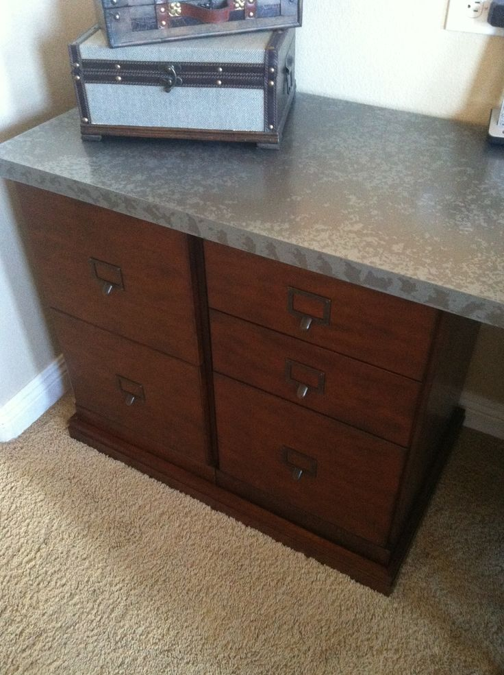 ballard designs tuscan brown with zinc top desk it is their 5 cabinet credenza zink - Ballard Design Desks
