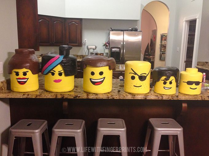 DIY Lego Costumes: Lego Heads                                                                                                                                                      More