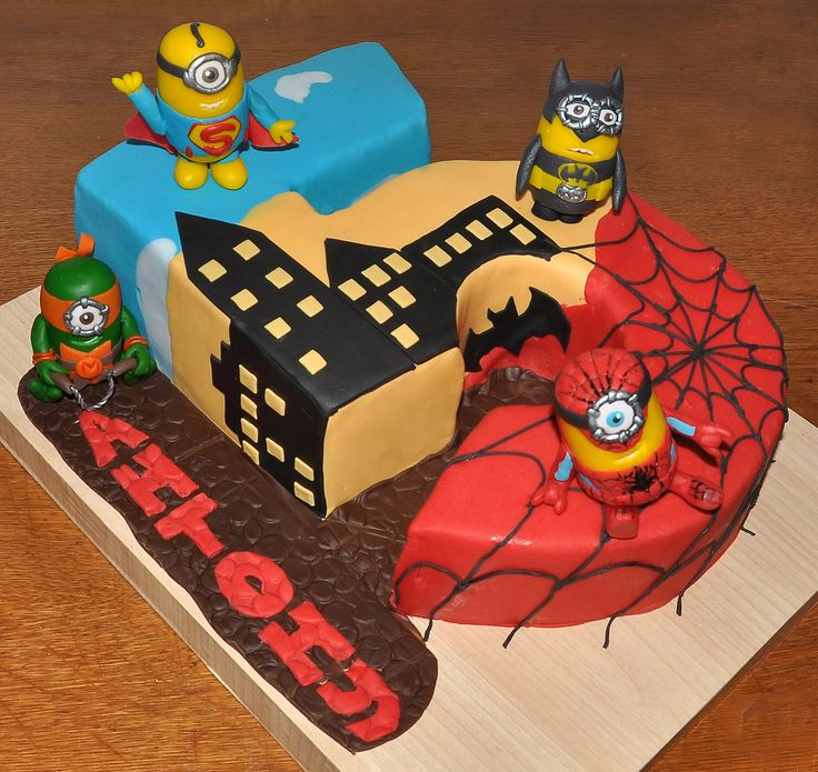 Superhero minions 5th birthday