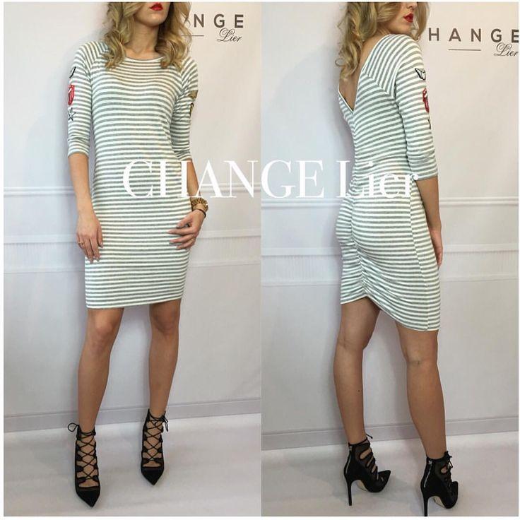 New❤️ Sukienka BLAKE SZARA❤️ Niezwykle kobieca sukienka❤️ Prosty fason sukienki uzupełnia seksowny dekolt pięknie podkreślający plecy rozmiar onesize rękaw 3/4 #shop#online#dress#girl#polishbeatuy#polishgirl#change#changelier#instalook#insta#