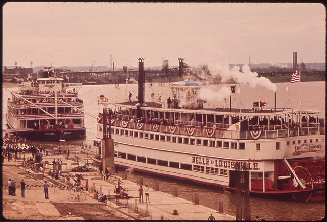 "The ""Belle Of Louisville"" Docked At The ""New"" Louisville Waterfront On The Ohio River, May 1972 by The U.S. National Archives, via Flickr"