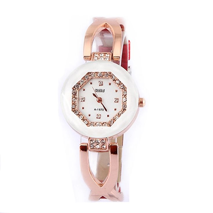 Womens Fashion Personality Casual Watch Rhinestone Bracelet Wrist Watch Red - Intl | Lazada PH