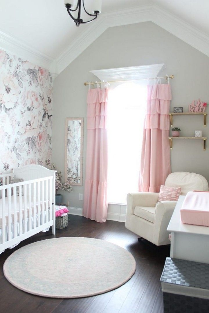 Shabby Chic Baby Room Decorating Ideas In 2020 Pink And Gray Nursery Shabby Chic Baby Room Chic Baby Rooms