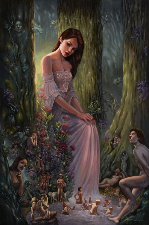 "fairytalemood:    ""The Nymph's Wood"" by Mia Araujo"