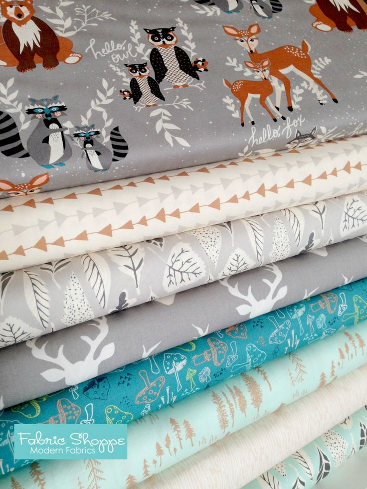 Hello Bear fabric bundle by Bonnie Christine for Art Gallery Fabrics, Deer fabric, Bundle of 8- You Choose the Cut, Free Shipping Available by FabricShoppe on Etsy