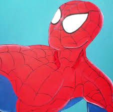 Resultado de imagen para imagenes con el hombre araña para pintar en cuadro
