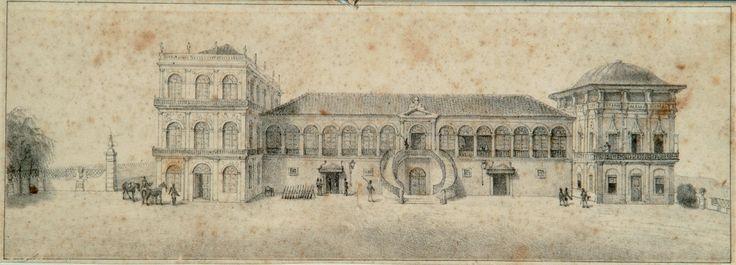 * Paço de São Cristóvão * Meados do Séc. XIX. Litografia. (by Jean-Baptiste Debret).