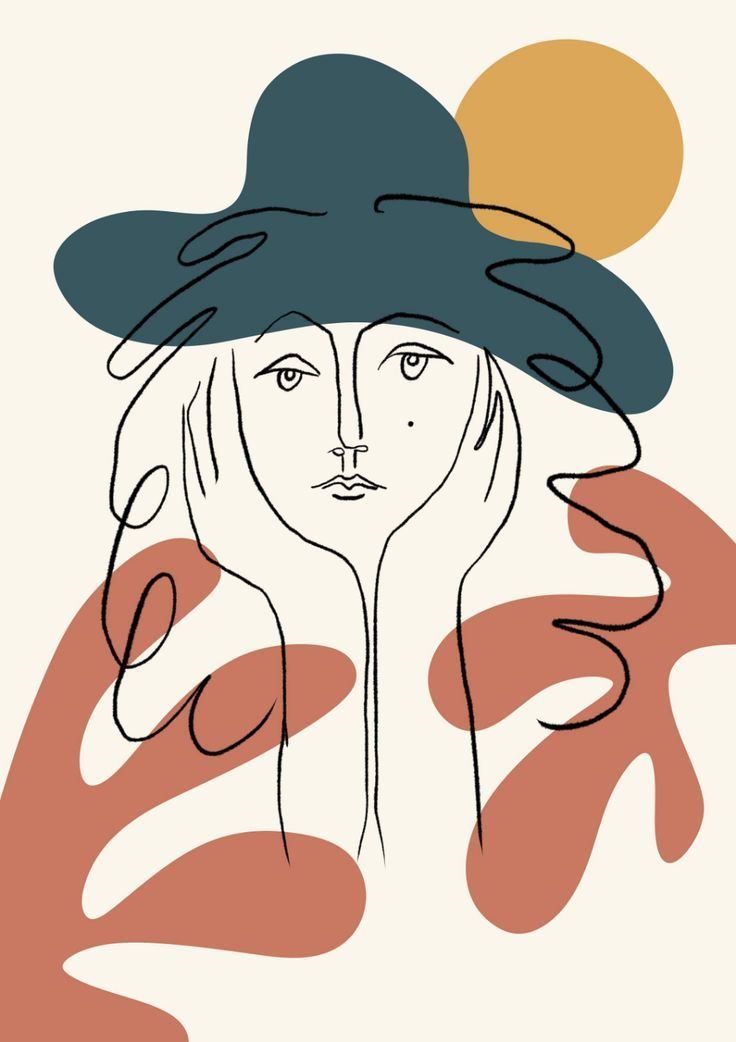 Line Art Face PRINT | Face Drawing Sketch Art Woman In One Line Fashion Illustra…