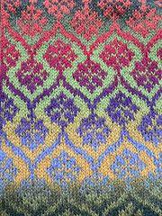 Colourful knit (qusic) Tags: germany knitting colourful fairisle stranded kauni csquiltdesign folkknitting autumncardigan effectyarn