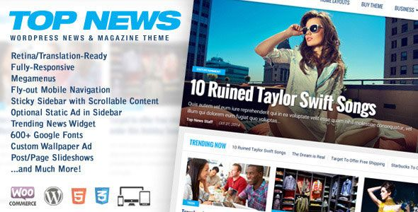 Top News v2.03  WordPress News & Magazine Theme  Blogger Template