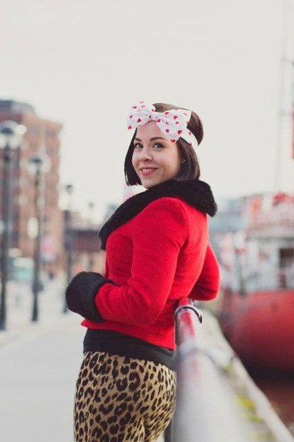 Bow Headband, White and Red Heart Bow Headband, Rockabilly Pin Up Girl Headband, Oversized Bow Headband, Heart Headband, Valentine's Day on Etsy, £12.00
