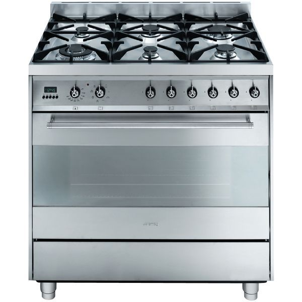 Smeg 90CM Electric Oven with Gas Cooktop Stainless Steel C9GMXA. | E Trading - Kitchen, Bathroom & Laundry