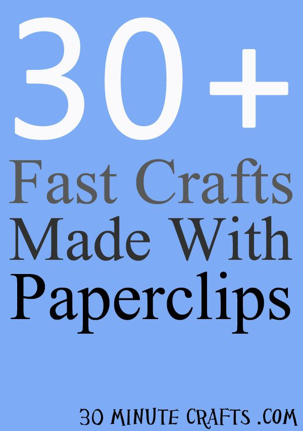 30+ Fast Paperclip Crafts - 30 Minute Crafts also fun with magnets and many other items of interest