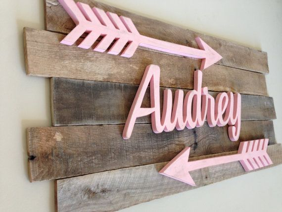 Nursery Name Sign Decor Letters Baby Wall Pinterest