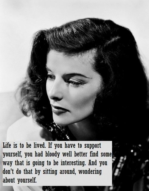 5 Quotes & 1 Video via the Original Hipster Feminist: Katharine Hepburn. | elephant journal
