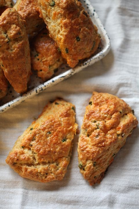cheddar chive scones; image credit: Doug Schneider Photography