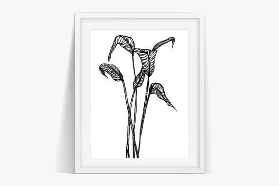 Check out Leaves on Stems Art Print Poster Digital Download on janesapple