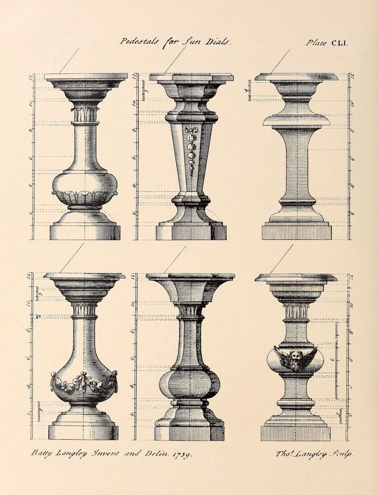 Designs for pedestals of sundials