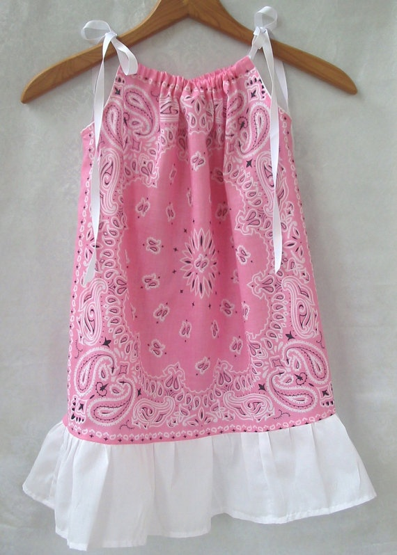 Pink Bandana Pillowcase Dress or Top Pink by IttyBittyKidBoutique, $19.99