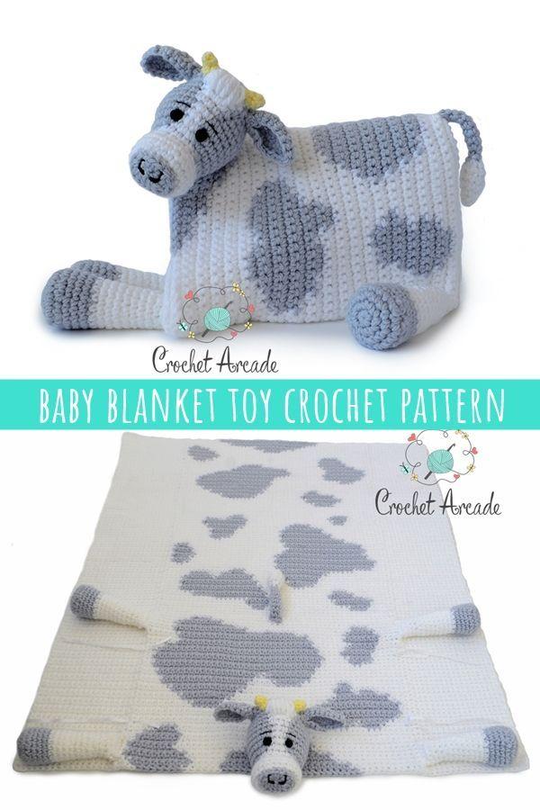 Kuscheln und Spielen Kuh Babydecke Muster von Aneta Izabela   – Crochet Blankets/ Afghans/ Motifs