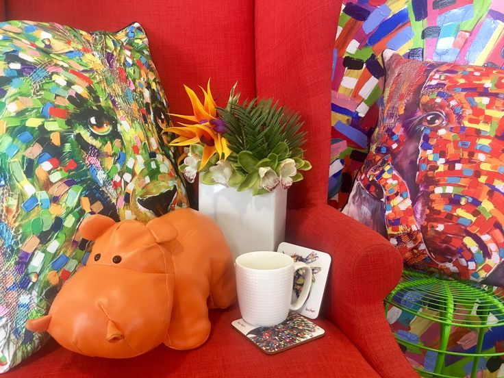 Tracey Keller's Indoor or Outdoor Cushion covers and coasters