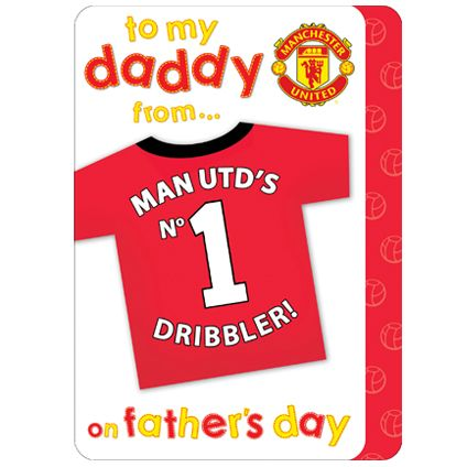 Buy this sweet Manchester United Father's Daddy Card directly from publishers Danilo.com with Free UK Delivery. Worldwide shipping also available
