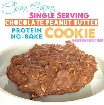 Ripped Recipes - Clean Eating Single Serving Chocolate Peanut Butter Protein No-Bake Cookie - A quick, easy, and delicious single serving protein packed cookie with the amazing flavor combination of chocolate and peanut butter. A decadently guilt-free version of the sinful original! Just whip it together before your workout, pop it in the freezer, and you'll have a delicious protein packed treat post-workout! http://papasteves.com/blogs/news