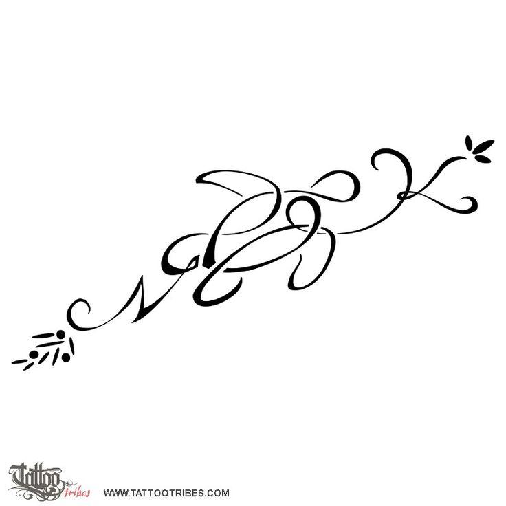 TATTOO TRIBES - Dai forma ai tuoi sogni, Tatuaggi con significato - tartaruga, lettere, k+n, twist, foglie, mirto, ginepro, unione, legame, amore, vita, protezione