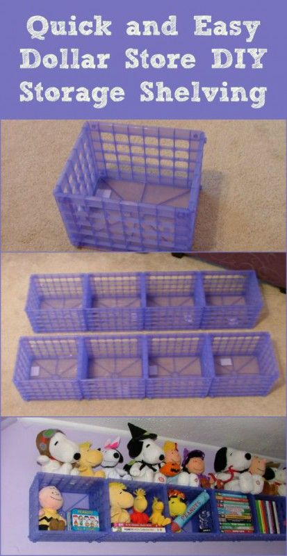 Plastic Crate Shelf - 150 Dollar Store Organizing Ideas and Projects for the Entire Home