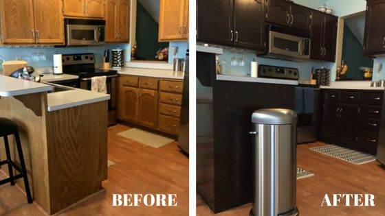 stain kitchen cabinets before and after how to stain oak kitchen cabinets with java gel stain 9378