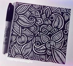 ending the week with a sunday night doodle! #zentangle #zenspire #zenspiredesigns