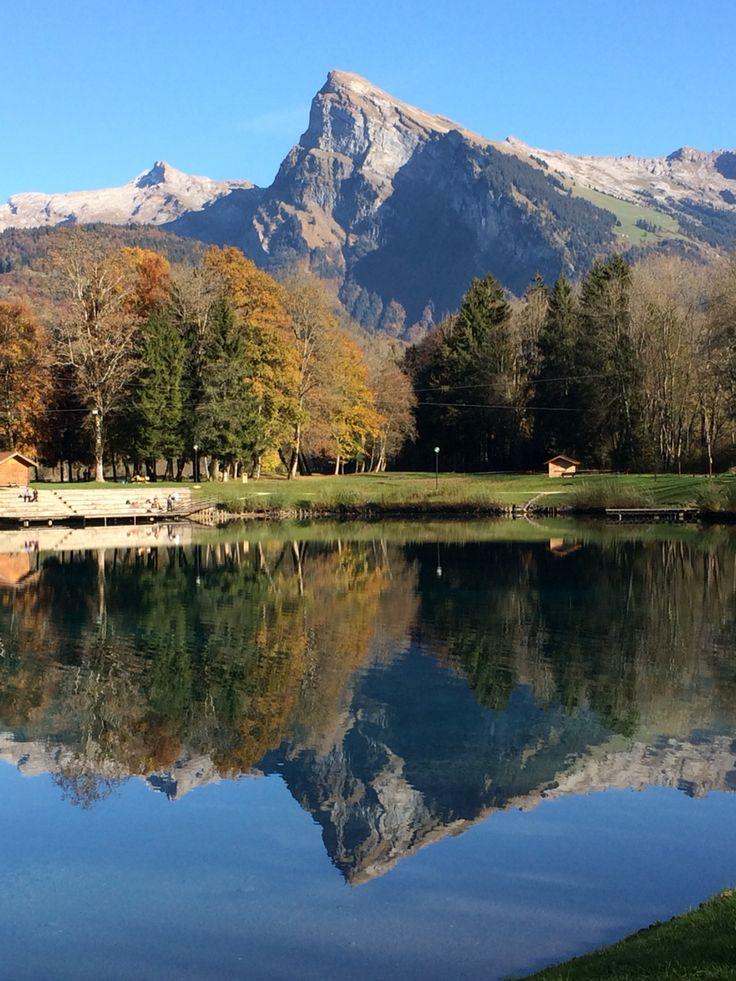 Le Criou pris depuis le lac bleu à Morillon