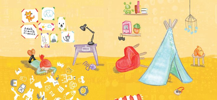Welcome to the whimsical world of computing. Hello Ruby is a children's book and an app that teaches programming fundamentals through stories and kid-friendly activities. It's suited for kids between 5 and 8 (but even adults might learn something new).