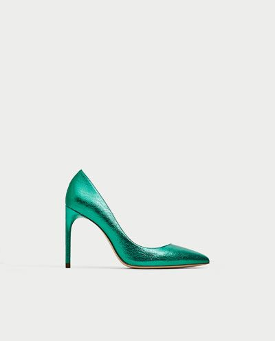 METALLIC GREEN COURT SHOES-View all-SHOES-WOMAN | ZARA United States