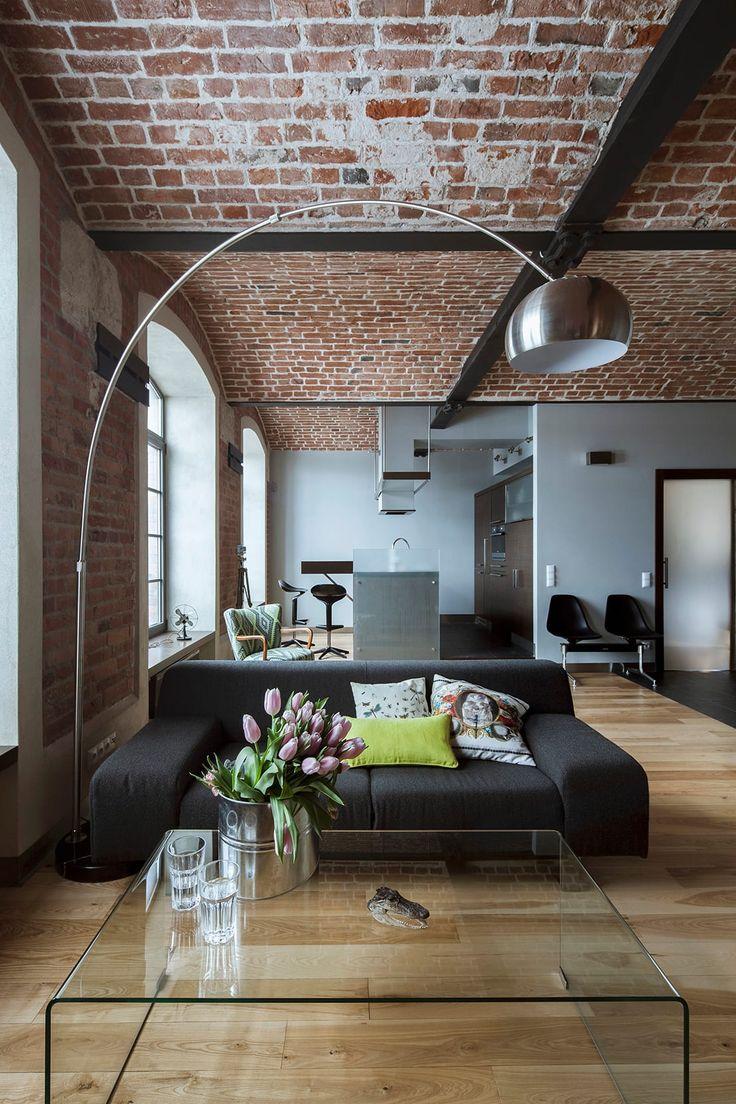 Melhores ideias de sala de estar de plano aberto no for Consola de tipo industrial