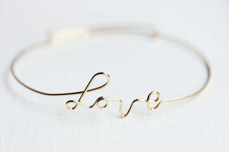 Wire Love Bracelet