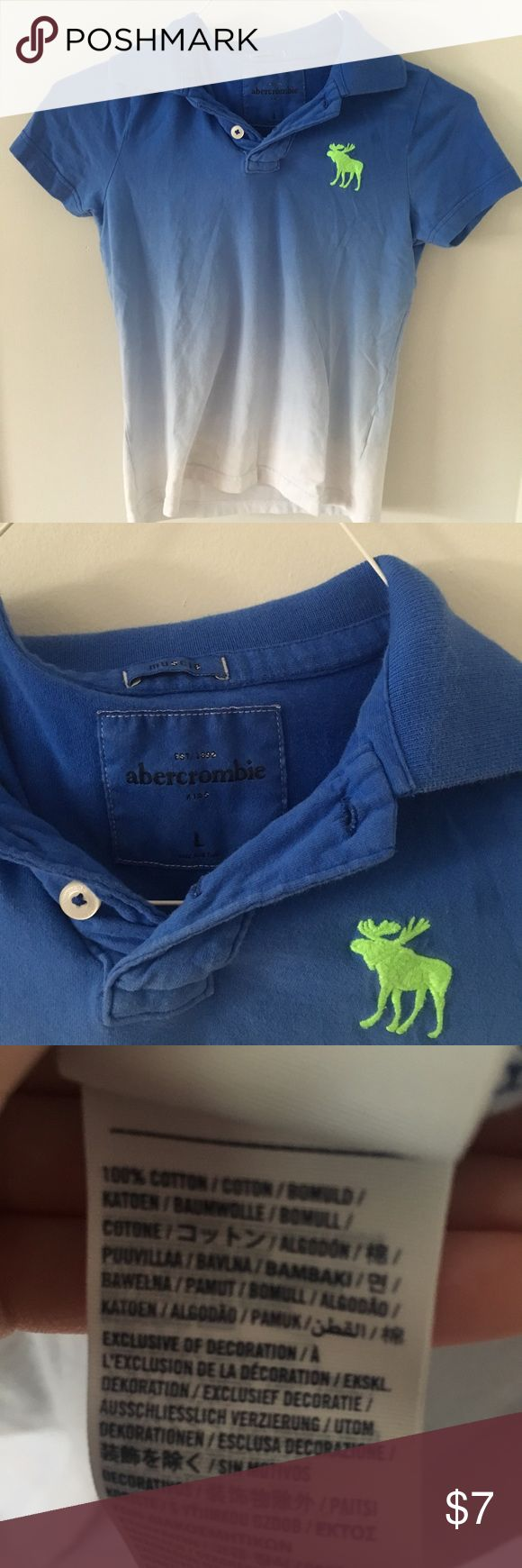 abercrombie kids tie-dye icon polo abercrombie kids tie-dye polo with green logo. Great condition!   ➳SAME OR NEXT DAY SHIPPING                                        ➳No trades, thank you!  ➳Make me an offer! ➳Lowballs declined ➳Ask questions BEFORE purchasing! abercrombie kids Shirts & Tops Polos