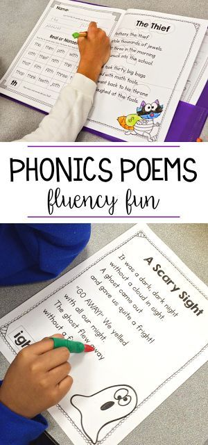 These phonics poems are the perfect way to have your students practice fluency! I love to put these poems in a poetry folder and each week we have a new word family or phonics skill to learn. Kindergarten, first grade, and second grade students can read the poems, visualize the poems, and practice nonsense words easily in a phonics center, whole group or small group with the teacher!