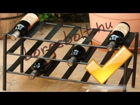 Kovácsoltvas borállvány www.borosbolt.hu kovacsoltvas bortartó bortároló állványok kovácsoltvas termékek gyertyatartó ajándék ajándékötlet Kovácsoltvas ajánd...