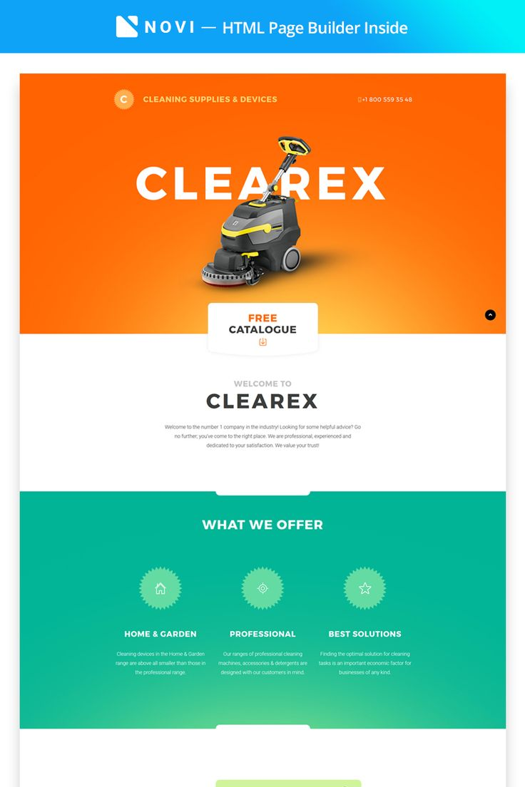 Cleaning Supplies & Devices Landing Page HTML Template
