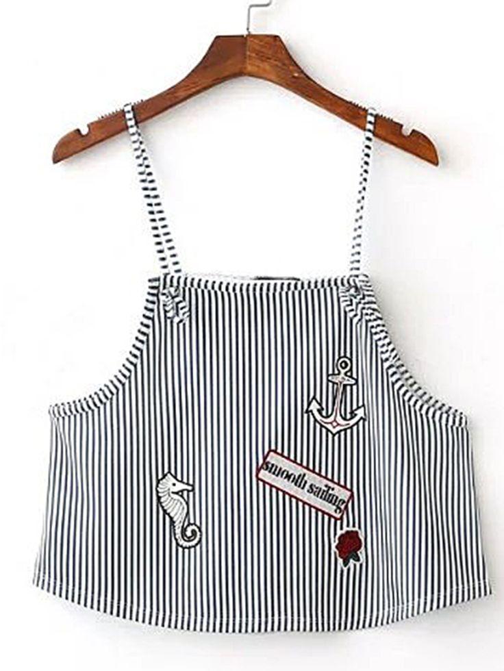 Shop Vertical Striped Cami Top online. SheIn offers Vertical Striped Cami Top & more to fit your fashionable needs.
