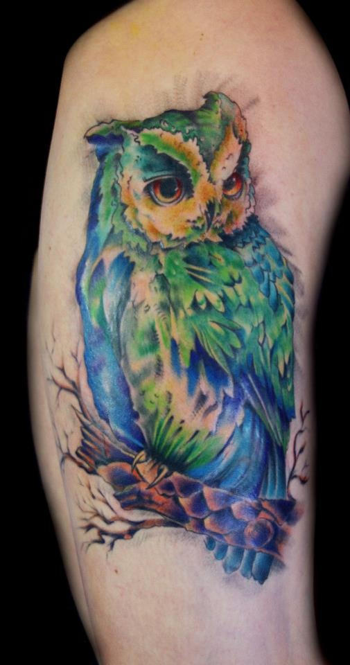 1000 images about owl tattoo on pinterest owl tat for Watercolor owl tattoo